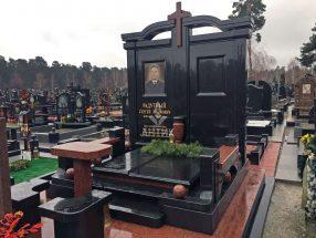 Памятник с надгробной плитой фото 6