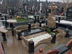 Памятник с надгробной плитой фото 5