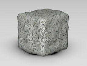 Брусчатка из Богуславского гранита 100x100x100 галтованная фото