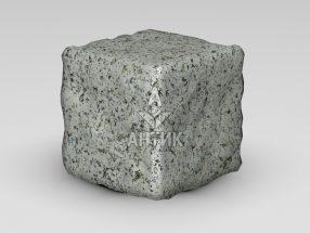 Брусчатка из Богуславского гранита 150x150x150 галтованная фото
