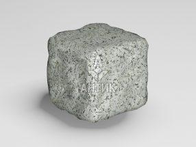 Брусчатка из Богуславского гранита 50x50x50 галтованная фото