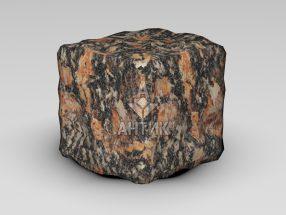 Брусчатка из Брусиловского гранита 100x100x100 галтованная фото