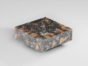Брусчатка из Брусиловского гранита 100x100x30 пиленая термообработанная фото