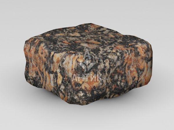 Брусчатка из Брусиловского гранита 100x100x50 галтованная фото