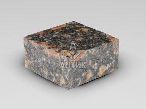 Брусчатка из Брусиловского гранита 100x100x50 пиленая термообработанная фото