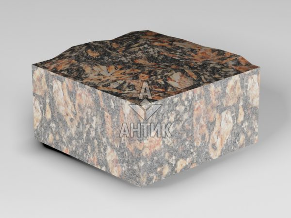 Брусчатка из Брусиловского гранита 100x100x50 пилено-колотая фото
