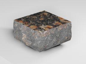 Брусчатка из Брусиловского гранита 100x100x50 пилено-колотая термообработанная фото