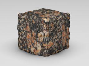 Брусчатка из Брусиловского гранита 150x150x150 галтованная фото