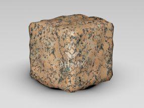 Брусчатка из Емельяновского гранита 100x100x100 галтованная фото