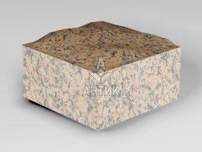 Брусчатка из Емельяновского гранита 100x100x50 пилено-колотая фото