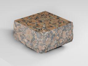 Брусчатка из Емельяновского гранита 100x100x50 пилено-колотая термообработанная фото