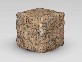 Брусчатка из Емельяновского гранита 150x150x150 галтованная фото