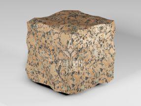 Брусчатка из Емельяновского гранита 150x150x150 колотая фото