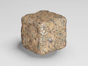 Брусчатка из Емельяновского гранита 50x50x50 галтованная фото