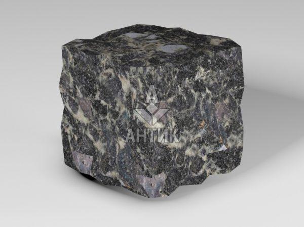 Брусчатка из Головинского лабрадорита 100x100x100 колотая фото