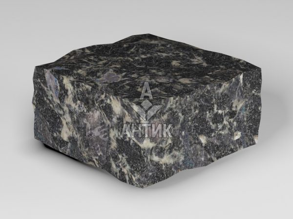 Брусчатка из Головинского лабрадорита 100x100x50 колотая фото