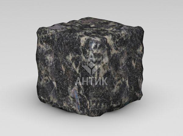 Брусчатка из Головинского лабрадорита 150x150x150 галтованная фото