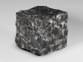 Брусчатка из Головинского лабрадорита 150x150x150 колотая фото