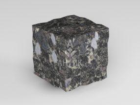 Брусчатка из Головинского лабрадорита 50x50x50 колотая фото