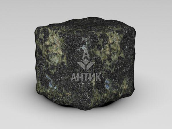 Брусчатка из Каменнобродского лабрадорита 100x100x100 галтованная фото