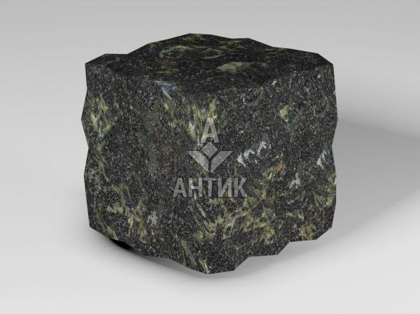 Брусчатка из Каменнобродского лабрадорита 100x100x100 колотая фото