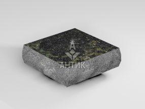 Брусчатка из Каменнобродского лабрадорита 100x100x30 пилено-колотая термообработанная фото
