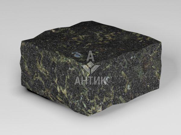 Брусчатка из Каменнобродского лабрадорита 100x100x50 колотая фото
