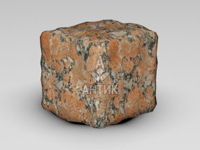 Брусчатка из Капустинского гранита 100x100x100 галтованная фото