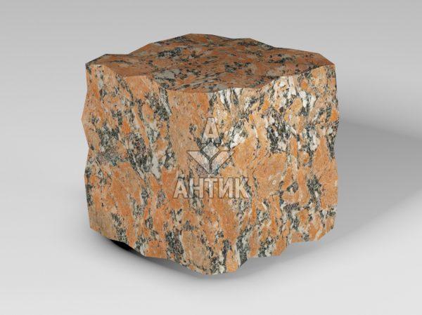 Брусчатка из Капустинского гранита 100x100x100 колотая фото