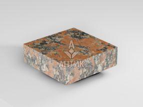 Брусчатка из Капустинского гранита 100x100x30 пиленая термообработанная фото