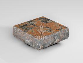 Брусчатка из Капустинского гранита 100x100x30 пилено-колотая термообработанная фото