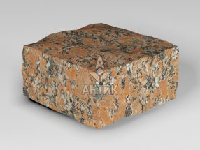 Брусчатка из Капустинского гранита 100x100x50 колотая фото