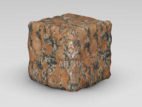 Брусчатка из Капустинского гранита 150x150x150 галтованная фото