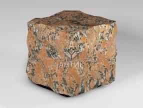 Брусчатка из Капустинского гранита 150x150x150 колотая фото