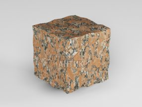 Брусчатка из Капустинского гранита 50x50x50 колотая фото