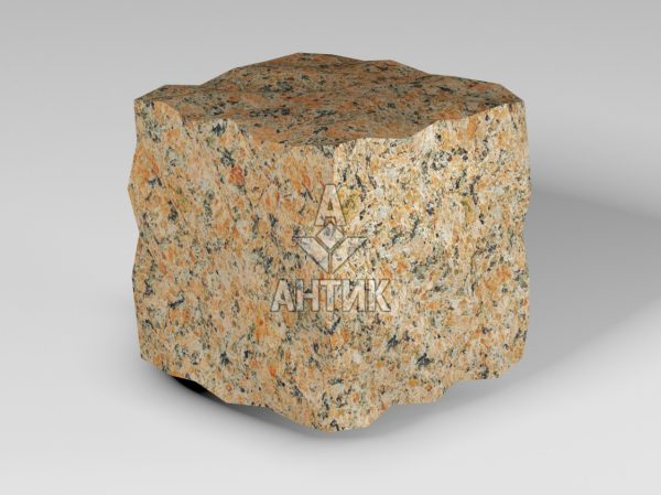 Брусчатка из Кишинского гранита 100x100x100 колотая фото
