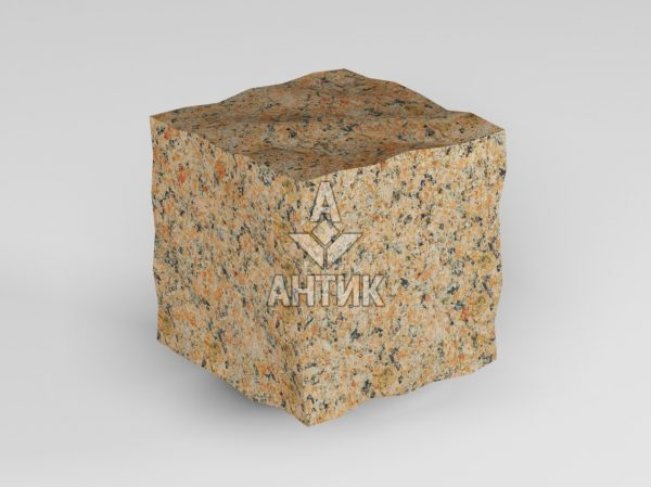 Брусчатка из Кишинского гранита 50x50x50 колотая фото