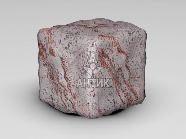 Брусчатка из Крутневского гранита 100x100x100 галтованная фото