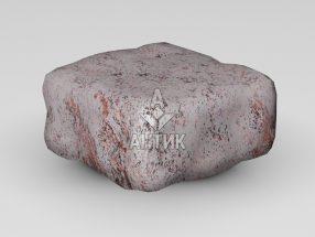 Брусчатка из Крутневского гранита 100x100x50 галтованная фото