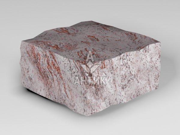 Брусчатка из Крутневского гранита 100x100x50 колотая фото