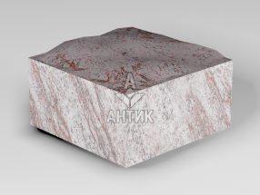 Брусчатка из Крутневского гранита 100x100x50 пилено-колотая фото