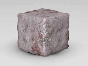 Брусчатка из Крутневского гранита 150x150x150 галтованная фото