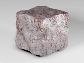 Брусчатка из Крутневского гранита 150x150x150 колотая фото