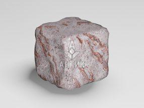 Брусчатка из Крутневского гранита 50x50x50 галтованная фото