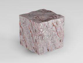 Брусчатка из Крутневского гранита 50x50x50 колотая фото