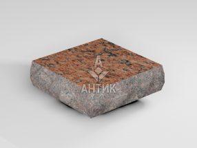 Брусчатка из Лезниковского гранита 100x100x30 пилено-колотая термообработанная фото