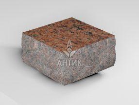 Брусчатка из Лезниковского гранита 100x100x50 пилено-колотая термообработанная фото