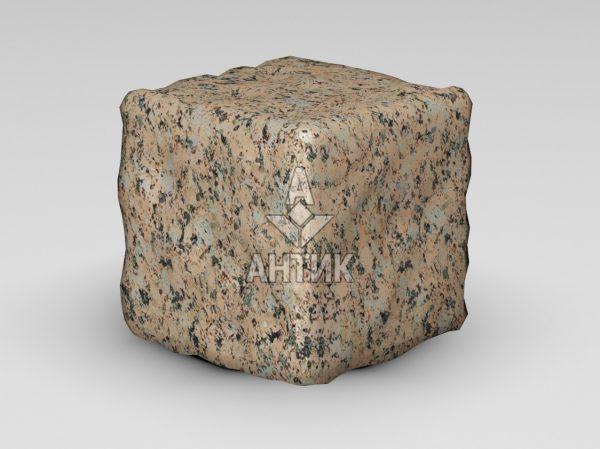 Брусчатка из Межиричского гранита 150x150x150 галтованная фото