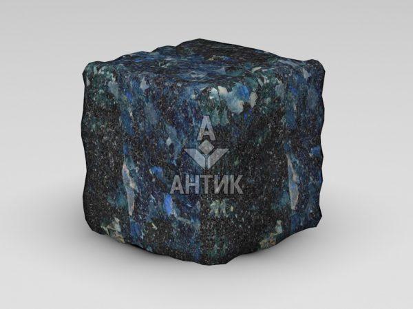 Брусчатка из Очеретянского лабрадорита 150x150x150 галтованная фото