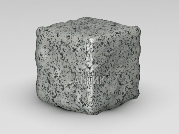 Брусчатка из Покостовского гранита 150x150x150 галтованная фото